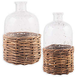 Bee & Willow™ Home Glass Bottle with Rattan Base