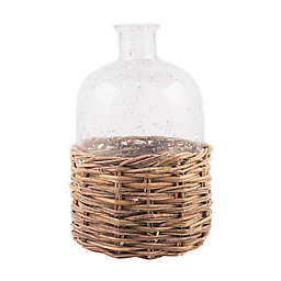 Bee & Willow™ Home Medium Glass Bottle with Rattan Base