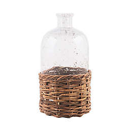 Bee & Willow™ Home Large Glass Bottle with Rattan Base