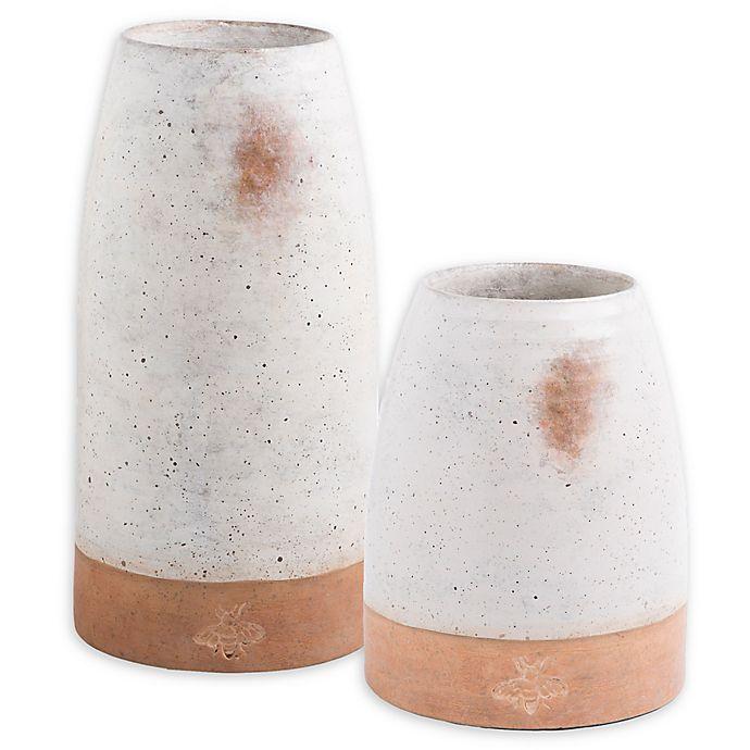 Alternate image 1 for Bee & Willow™ Home Bee Ceramic Vase in White
