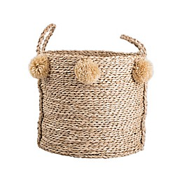 Bee & Willow™ Home Medium Seagrass Pom Pom Basket