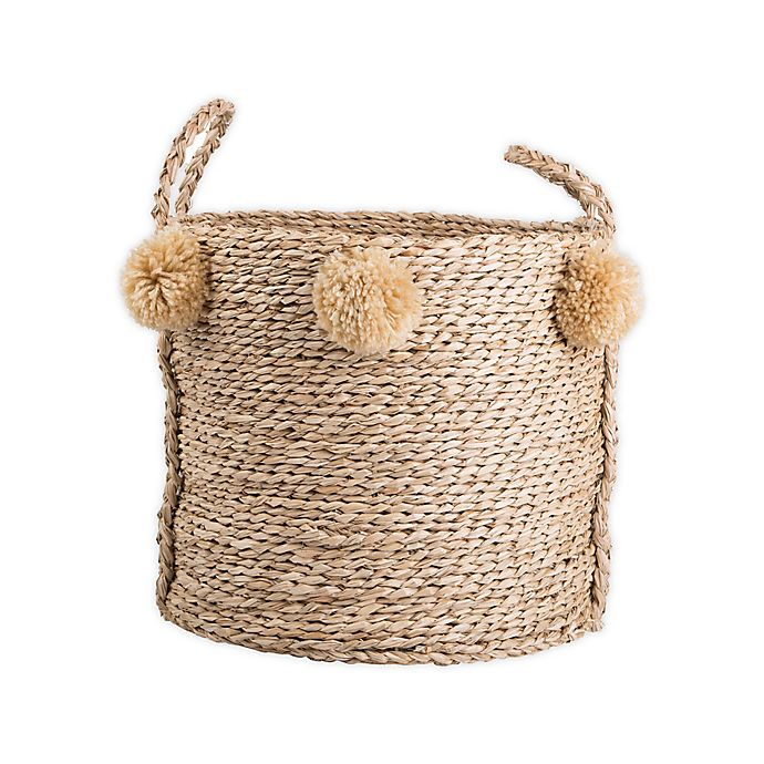 Alternate image 1 for Bee & Willow™ Home Medium Seagrass Pom Pom Basket