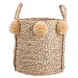 Bee & Willow™ Home Large Seagrass Pom Pom Basket