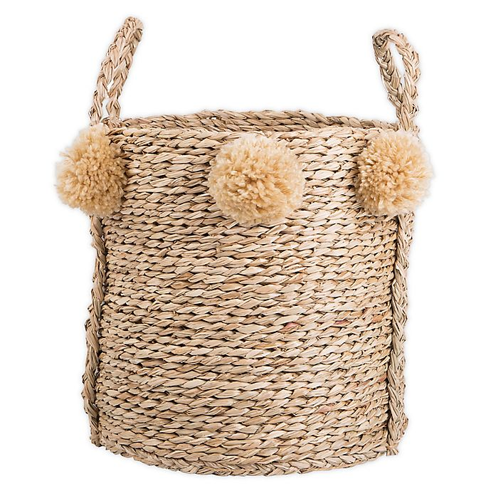 Alternate image 1 for Bee & Willow™ Home Large Seagrass Pom Pom Basket