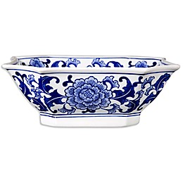 One Kings Lane Open House™ Decorative Bowl in Blue/White