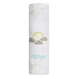 aden + anais® essentials Partly Sunny Swaddle Blanket in Grey