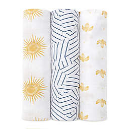 aden + anais® 3-Pack Sun Swaddle Blankets in Golden