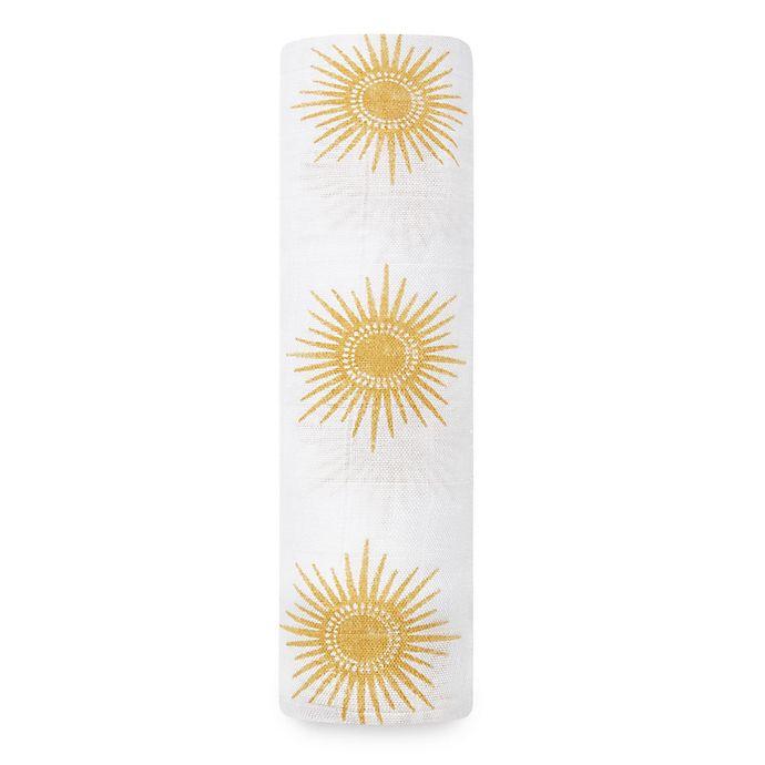 Alternate image 1 for aden + anais® Sun Swaddle Blanket in Golden