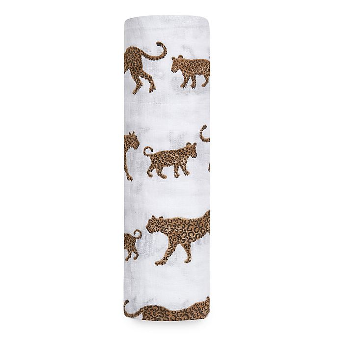 Alternate image 1 for aden + anais® Hear Me Roar Muslin Swaddle in Brown
