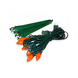 Electric Pathway Lights in Orange (Set of 10)