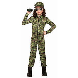 Army Jumpsuit with Hat Child's Halloween Costume