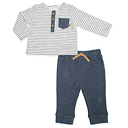 Clasix Beginnings™ by Minibasix® 2-Piece Striped Top and Pant Set in Navy