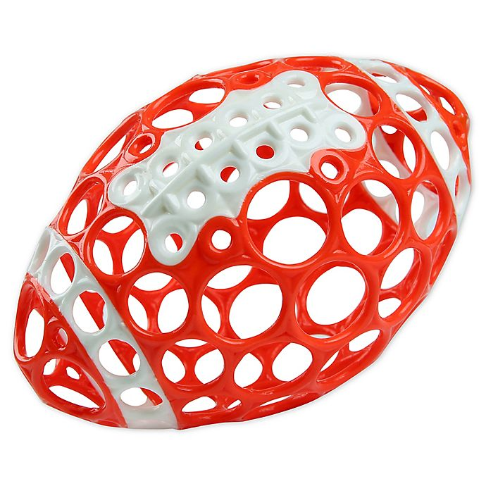 Alternate image 1 for Bright Starts™ Grasp & Play Football™ Easy-Grasp Toy in Red/White