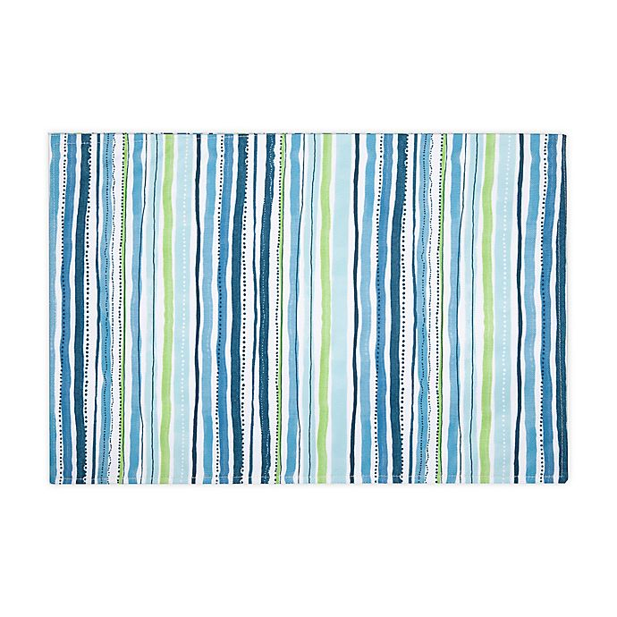 Alternate image 1 for Cool Summer Stripe Indoor/Outdoor Placemats (Set of 4)