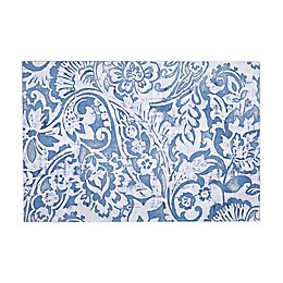 Paisley Scroll Indoor/Outdoor Placemats in Grey (Set of 4)