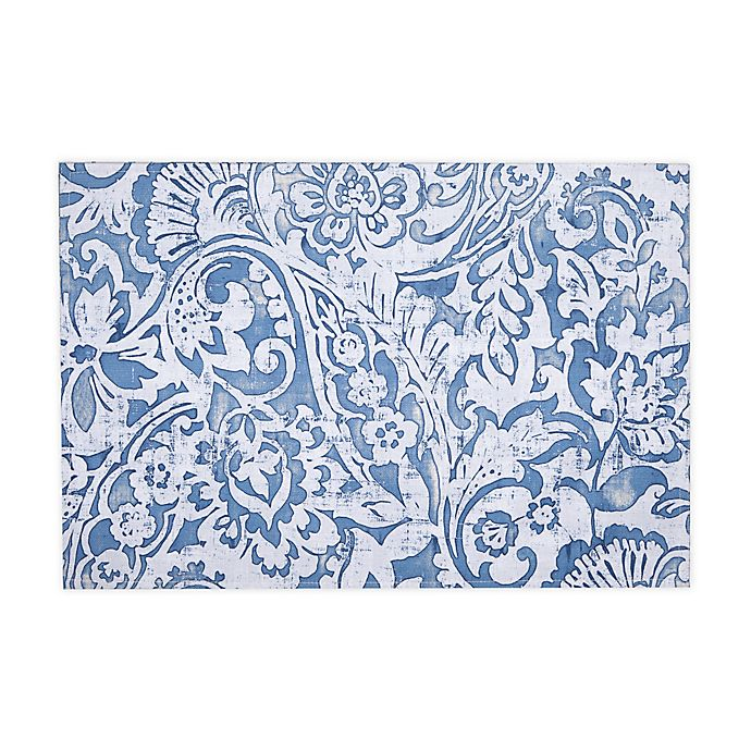 Alternate image 1 for Paisley Scroll Indoor/Outdoor Placemats in Grey (Set of 4)