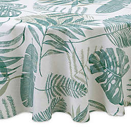 Tranquil Palm 70-Inch Round Indoor/Outdoor Tablecloth