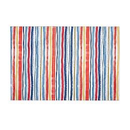 Warm Summer Stripe Indoor/Outdoor Placemats (Set of 4)