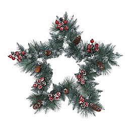 Puleo International™ 30-Inch Sterling Pine Star-Shaped Wreath in Green