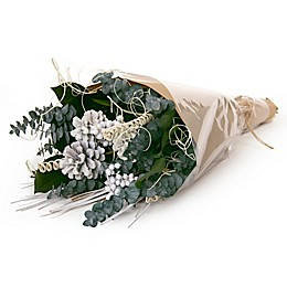 Nature's Inspirations Pinecone Holiday Bouquet in White