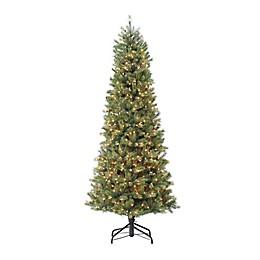 Puleo International™ 7.5' Slim Madison Fir Tree with 800 Clear Lights