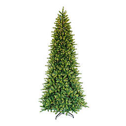 Puleo International™ 9' Slim Forest Fir Tree with 900 Clear Lights