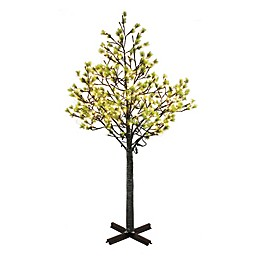 Puleo International Artificial Holiday Tree with LED Lights in Green