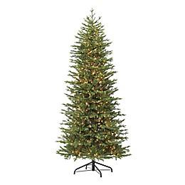 Puleo International® 7.5' Slim Fir Artificial Christmas Tree w/ Warm White Lights