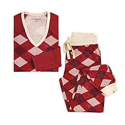 Burt's Bees Baby® 2-Piece Argyle Raglan Women's Pajama Set in Red/Ivory