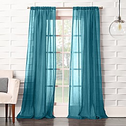 No.918® Lourdes Rod Pocket Semi-Sheer Window Curtain Panel