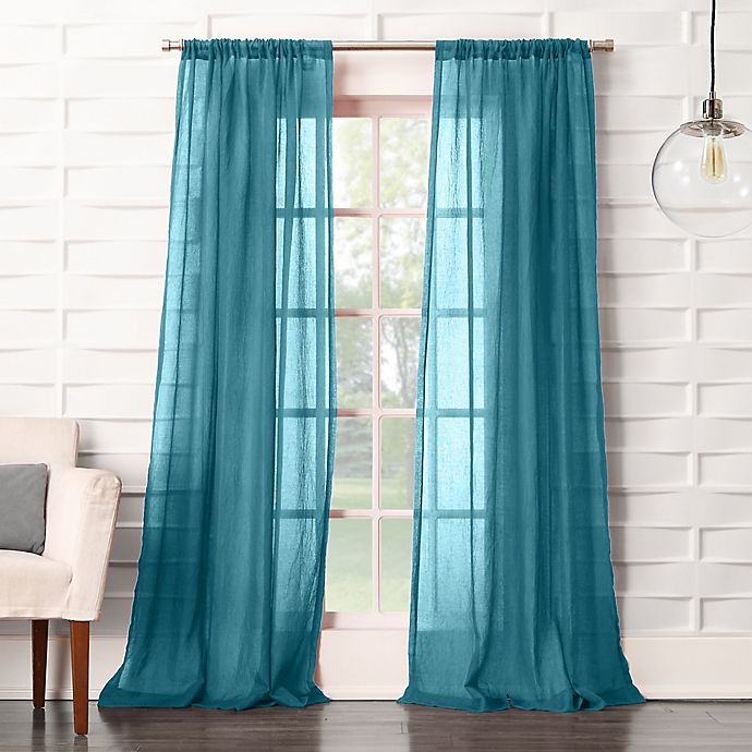 Alternate image 1 for No. 918® Lourdes Rod Pocket Semi-Sheer Window Curtain Panel