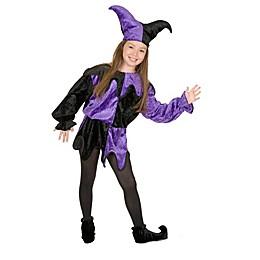 Jester Child's Halloween Costume in Purple