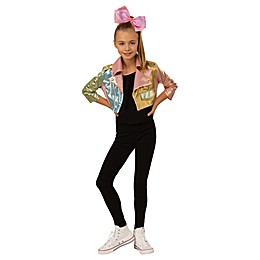 JoJo Siwa Biker Jacket and Bow Child's Halloween Costume in Gold