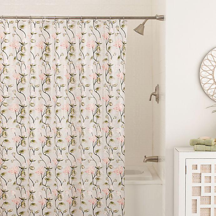 Zen Floral 70 Inch X 72 Inch Shower Curtain