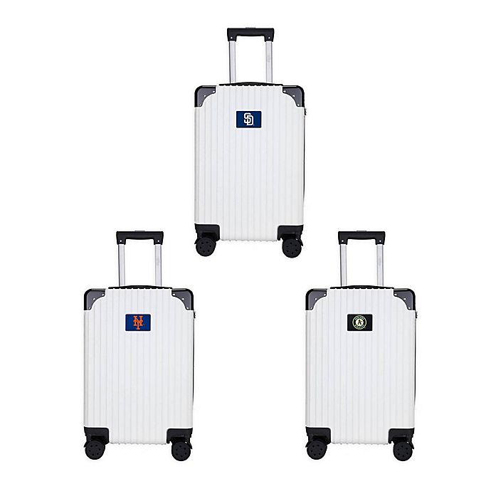 Alternate image 1 for MLB Premium Hardside Spinner 21-Inch Carry On Luggage Collection in Black/White