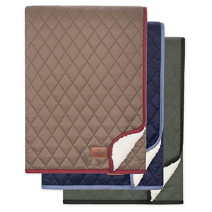 Alternate image 1 for Pendleton® Quilted Reversible Throw Blanket