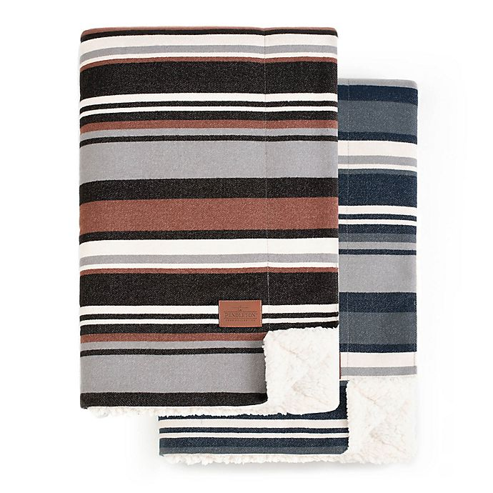 Alternate image 1 for Pendleton® Brantly Stripe Reversible Throw Blanket