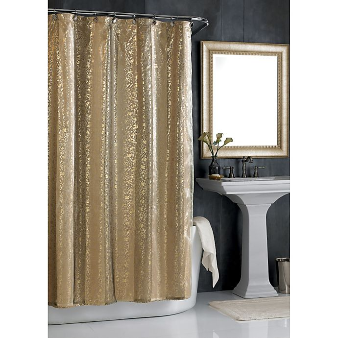 Alternate image 1 for Sheer Bliss Shower Curtain in Gold