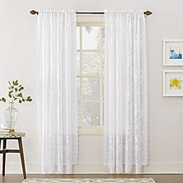 No.918® Alison Lace Scalloped Rod Pocket Sheer Window Curtain Panel