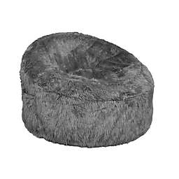 Iron Cloud™ Faux Fur Upholstered Papasan Chair