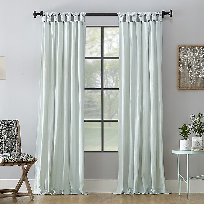 Alternate image 1 for Archaeo® Washed Cotton Tab Top Window Curtain Panel