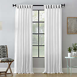 Archaeo® Washed Cotton 63-Inch Tab Top Window Curtain Panel in White