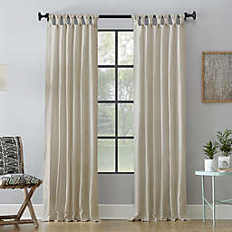 Archaeo® Washed Cotton 84-Inch Tab Top Window Curtain Panel in Oatmeal