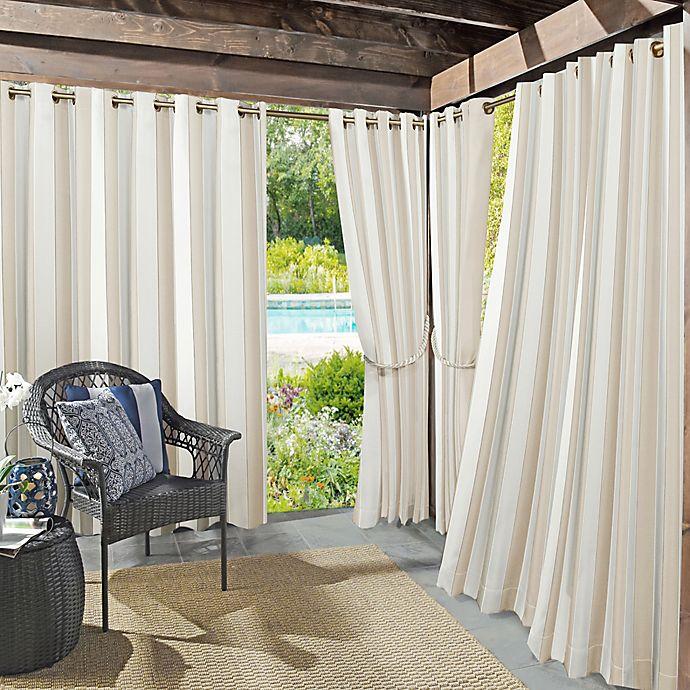 Alternate image 1 for Sun Zero® Valencia Cabana Stripe Indoor/Outdoor Window Curtain Panel