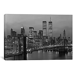 iCanvas 1980s Lower Manhattan NYC Skyline Canvas Wall Art