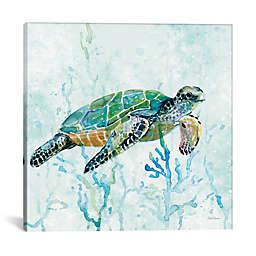 iCanvas Sea Turtle Swim I Canvas Wall Art