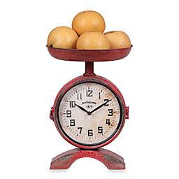 Creative Co-Op Metal Clock Scale in Red