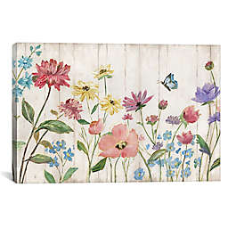 iCanvas Wildflower Flutter on Wood Canvas Wall Art
