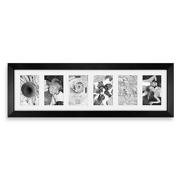 Malden® Berkeley 6-Opening Picture Frame in Matted Black | Bed Bath ...