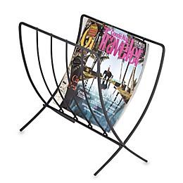 Black Folding Magazine Rack